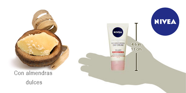 Pack de 3 Crema de día hidratante Nivea visage x 50 ml/ud chollo en Amazon