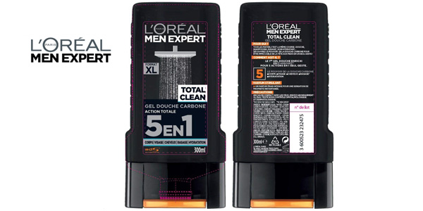 Pack x3 L'Oréal Men Expert Total Clean Gel de Ducha 5 en 1 Men chollo en Amazon