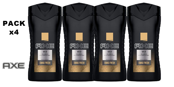 Pack 4 Botes Gel x400 ml Axe Gel Gold barato en Amazon