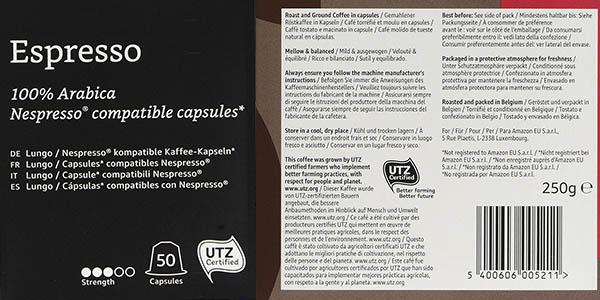 pack 50 cápsulas Solimo Amazon relación calidad-precio genial