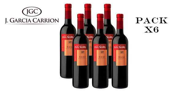Pack de 6 Botellas de Vino tinto Pata Negra Gran Selección D.O Rioja barato en Amazon