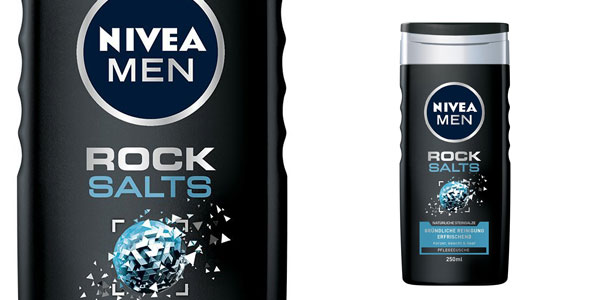 Pack x6 Gel de ducha Nivea Men Rock Salts chollo en Amazon