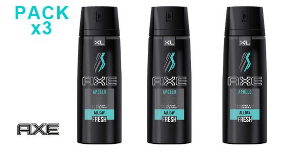 Pack 3 Desodorantes Bodyspray x 200 ml AXE Apollo XL barato en Amazon