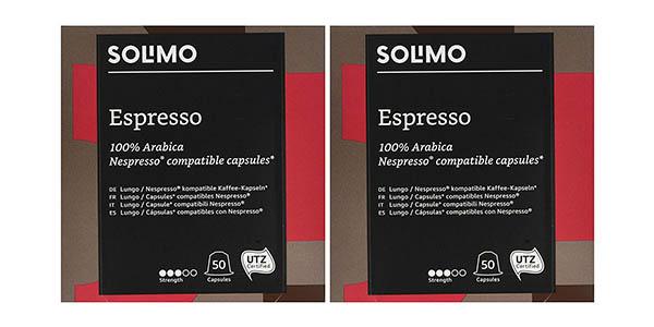 pack de cápsulas compatibles con Nespresso Solimo Amazon barato