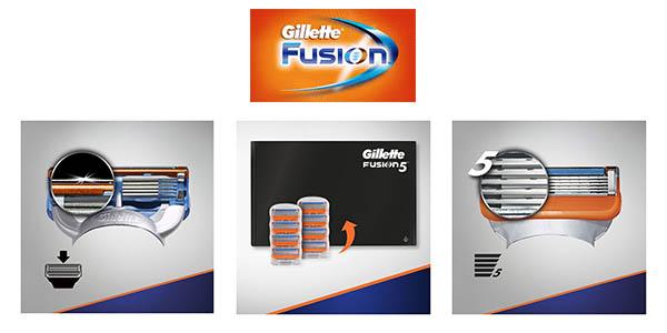 pack cuchillas recambio Gillette Fusion barato