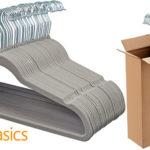Pack de 30 perchas de terciopelo AmazonBasics barato