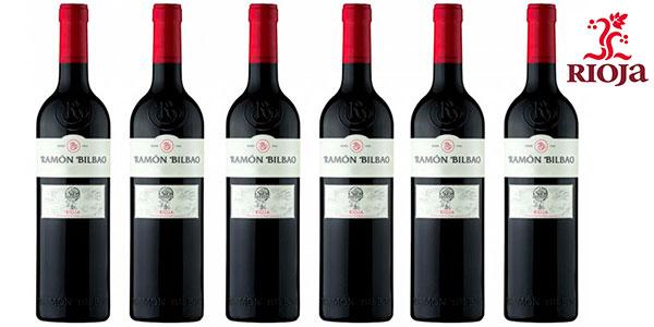 Pack de 6 botellas de vino tinto Ramón Bilbao Crianza (DO Rioja) de 2015 barato