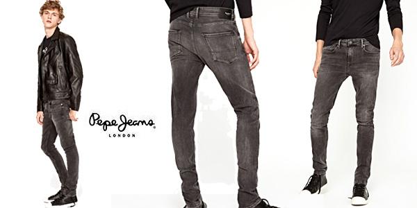 Pantalones vaqueros Pepe Jeans Finsbury skinny negros para hombre baratos en Amazon
