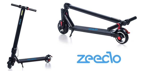 patinete eléctrico Zeeclo con freno en el manillar barato