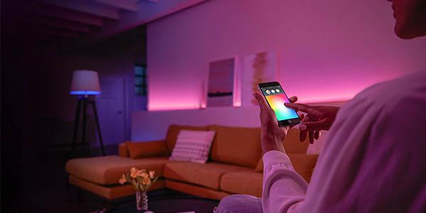 Philips Hue White Color Ambiance bombillas con control desde aplicación móvil chollo