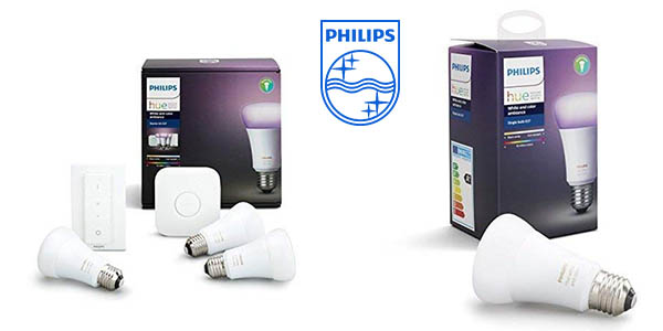 Philips Hue White and Color Ambiance kit de bombillas inteligentes barato