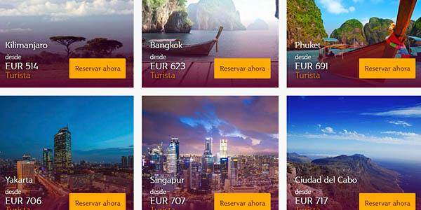 Qatar Airways promoción vuelos baratos Asia otoño 2018