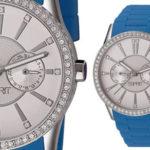 Reloj analógico Esprit Double Infusion Silicon Blue ES106122008 en color azul para mujer barato en Amazon