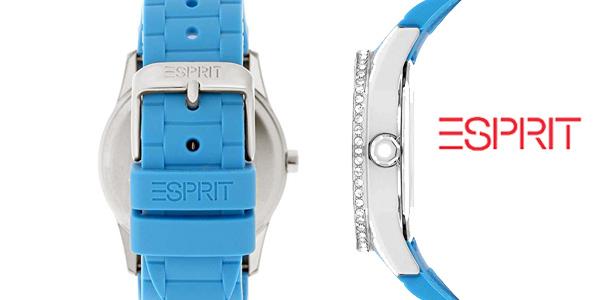 Reloj analógico Esprit Double Infusion Silicon Blue ES106122008 en color azul para mujer chollo en Amazon