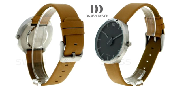 Reloj analógico unisex Danish Design IQ29Q1198 con correa de cuero marrón tabaco chollazo en Amazon