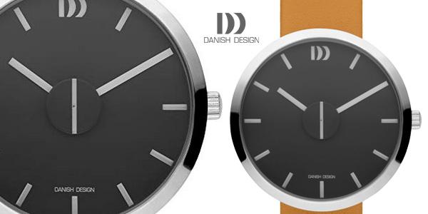 Reloj analógico unisex Danish Design IQ29Q1198 con correa de cuero marrón tabaco barato en Amazon
