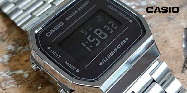 Reloj digital Casio unisex A168WEM-1EF chollazo en Amazon