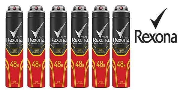 Rexona Vamos Campeones spray pack de 6 botes 200 ml barato