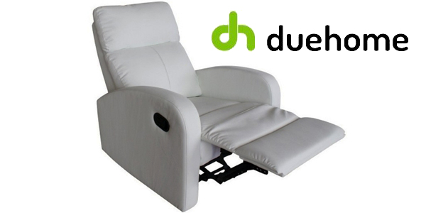 Sillón relax reclinable en color blanco de Due Home barato en eBay