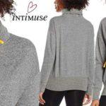 Sudadera de cuello alto Intimuse Bonette en color gris para mujer barata en Amazon
