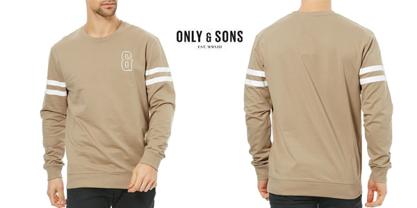 Sudadera Only & Sons color caqui par hombre chollo en eBay
