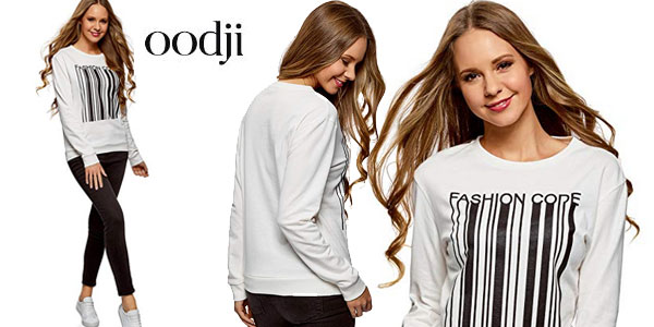 Suéter Oodji Ultra Fashion Code en color blanco para mujer barato en Amazon