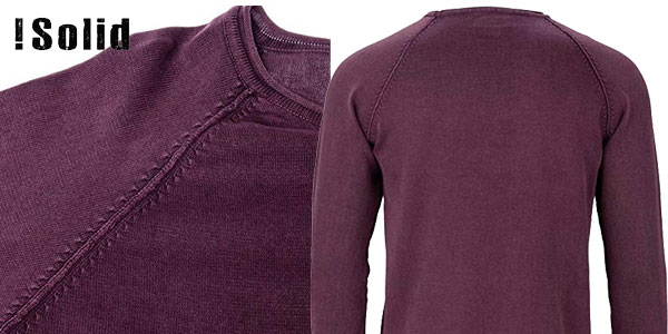Suéter de manga larga !Solid Knit Malvin para hombre chollo en Amazon