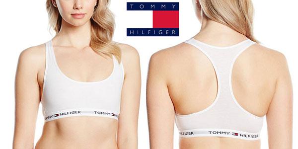 Sujetador deportivo Tommy Hilfiger Cotton Bralette Iconic Blanco barato en Amazon