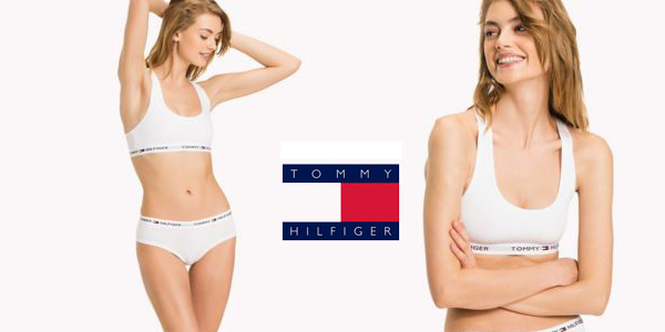 Sujetador deportivo Tommy Hilfiger Cotton Bralette Iconic Blanco chollo en Amazon