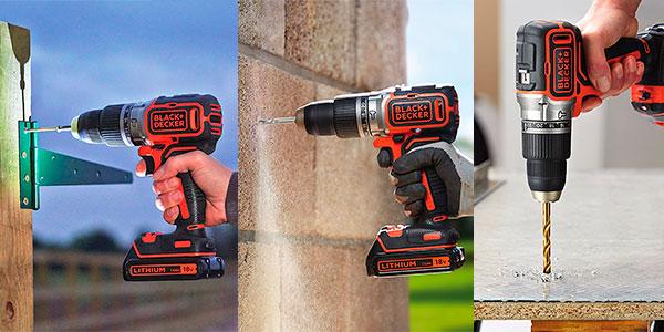 Taladro percutor Black & Decker BL188KB-QW de doble velocidad y 2 baterías barato