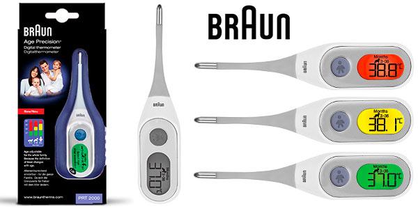 Termómetro Braun PRT 2000 Age Precision con pantalla LCD y Función Memoria barato