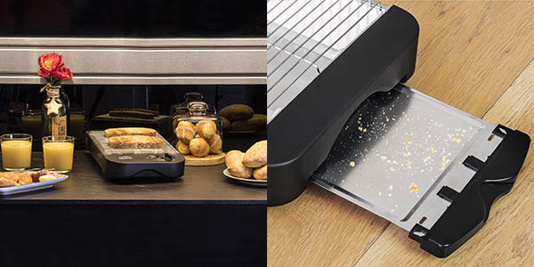 tostadora plana con recogemigas Cecotec Easy Toast Basic oferta