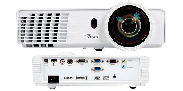Videoproyector DLP Optoma GT760 de 3.400 lúmenes con mando a distancia blanco barato