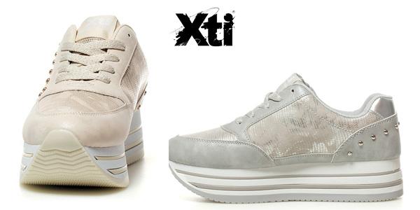Zapatillas Xti Gunna tonos metalizados con plataforma para mujer chollo en eBay