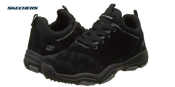 Zapatillas Skechers Larson-raxton en color negro para hombre baratas en Amazon