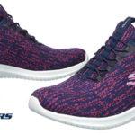 Zapatillas Skechers Ultra Flex-Bright Horizon en color azul para mujer baratas en Amazon