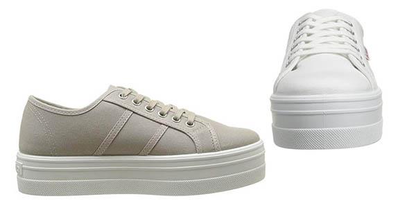 zapatillas Victoria Blucher de diseño clásico con plataforma oferta