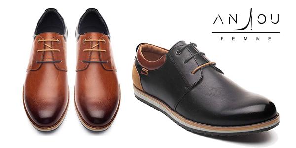 7655376b Chollazo Zapatos Oxford de cuero PU en varios colores para hombre ...