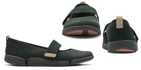 zapatos planos acolchados Clarks Tri Carrie chollo
