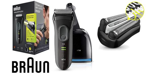 Afeitadora eléctrica Braun Series 3 ProSkin 3050cc recargable e inalámbrica barata en Amazon
