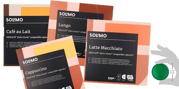 Amazon Solimo cápsulas de café compatibles Dolce Gusto oferta