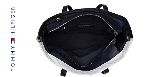 Bolso Tommy Hilfiger Tommy City Med Tote Nylon para mujer blanco chollo en Amazon