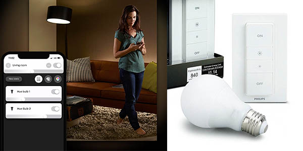 bombilla inteligente Philips Hue White E27 LED chollo