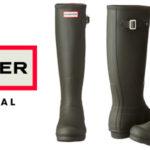 Botas de agua unisex Hunter Original tall Classic en oferta en Amazon