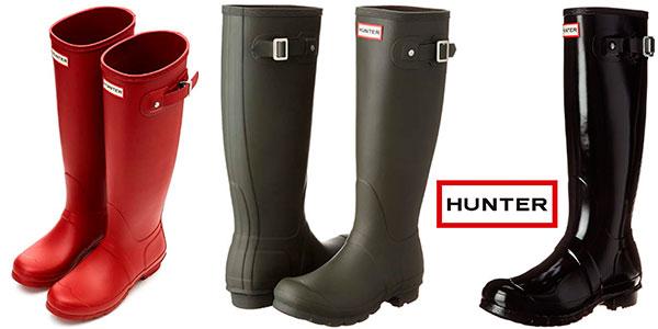Botas de agua Hunter Original Tall Classic unisex baratas
