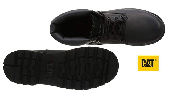 Botas de cordones Caterpillar Colorado en negro para hombre chollo en Amazon
