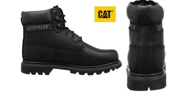 Botas de cordones Caterpillar Colorado en negro para hombre chollazo en Amazon