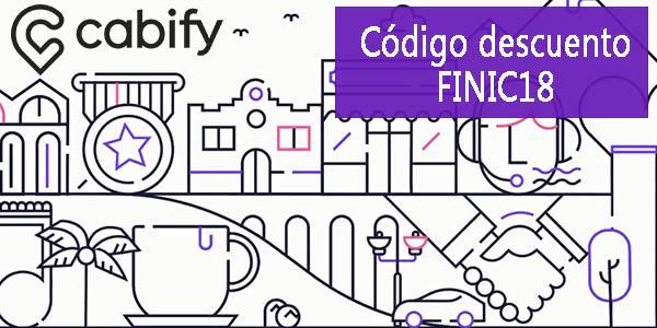 Cabify promoción primeros trayectos con cupón descuento FINIC18