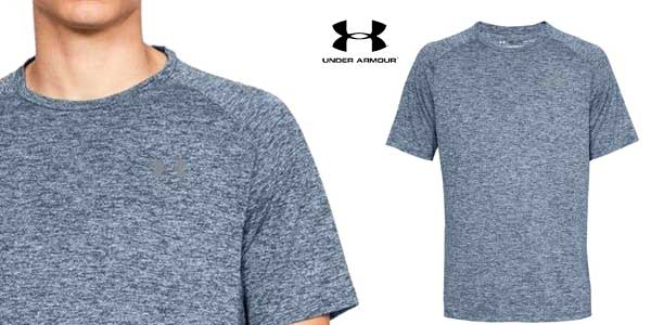 Camiseta manga corta Under Armour UA Tech tee 2.0 para hombre chollo en Amazon
