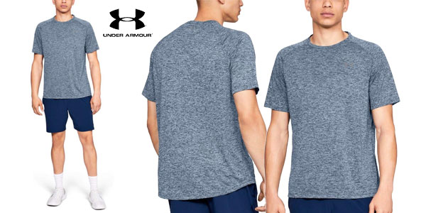 Camiseta manga corta Under Armour UA Tech tee 2.0 para hombre barata en Amazon